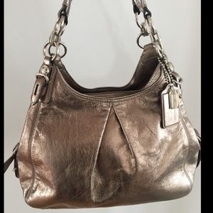 Gorgeous Gold/Bronze Authentic Leather Coach Bag!!